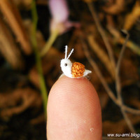 Extreme Micro Snail  Mini Tiny Dollhouse Miniature by SuAmi