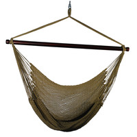 Caribbean Tight Weave Hanging Hammock Chair Brown