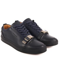 Buscemi Navy Buckle Sneakers