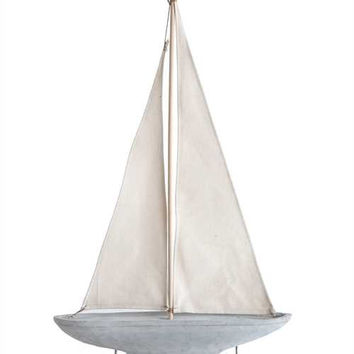 Cement Sailboat