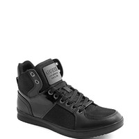 Trippy High-Top Leather & Mesh Sneakers | GUESS.com