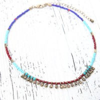 With Love From CA Beaded Choker - Womens Jewelry - Multi - One
