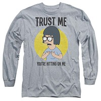 Bobs Burgers - Trust Me Long Sleeve Adult 18/1 Officially Licensed Shirt