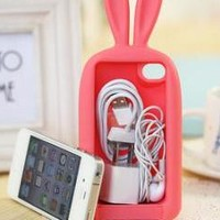Cute Rabbit Storage Case For Iphone 4/4S