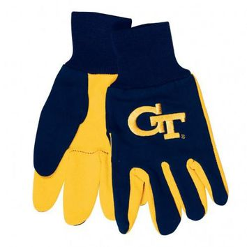 Georgia Tech Yellow Jackets - Adult Two-Tone Sport Utility Gloves