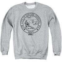 Parks & Recreation Pawnee Seal Athletic Heather Crewneck Sweatshirt