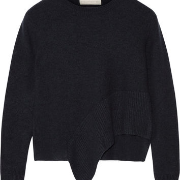 Stella McCartney - Asymmetric cashmere and silk-blend sweater
