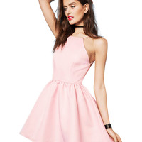 Halter Backless Sheath A-Line Mini Skater Dress