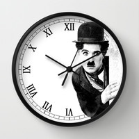 MR CHAPLIN Wall Clock by John Medbury (LAZY J Studios)