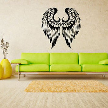 Angel Wings decal Angel wings sticker Wall art decal Tribal Hot Sexy Decor 4121