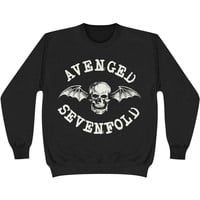 Avenged Sevenfold Men's  Classic Deathbat Sweatshirt Black