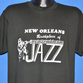80s New Orleans Birthplace Of Jazz t-shirt Large