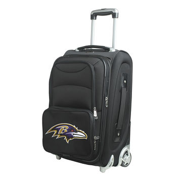Baltimore Ravens  20'' Softsided Luggage Carry-on Rolling-Black