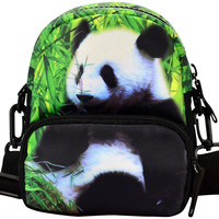 Panda Print Mini Shoulder Bag
