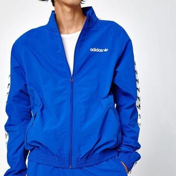 DCCKYB5 adidas TNT Tape Wind Blue and White Track Jacket