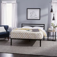 Priage Queen-size Black Metal Platform Bed | Overstock.com Shopping - The Best Deals on Beds