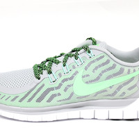 Nike Women's Free 5.0 2015 Wolf Grey/Volt Running Shoes 724383 013