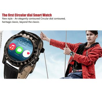 "100% Original Leather S2 Bluetooth BT3.0 Smart Watch Waterproof Wrist T2 Smartwatch For IOS Android 1.22"" HD IPS Screen"