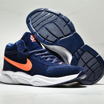 NIKE Couple models wear-resistant cushioning non-slip casual shoes running shoes Dark blue