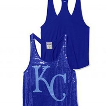 Kansas City Royals Bling Racerback Tank - PINK - Victoria's Secret
