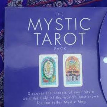 The Mystic Tarot Card Pack/Tarot Cards Deck/Rare/Mystic Meg Tarot/Psychic Readings/Psychic/Spell Enhanced/Haunted/Unique/Spell Work/Magick