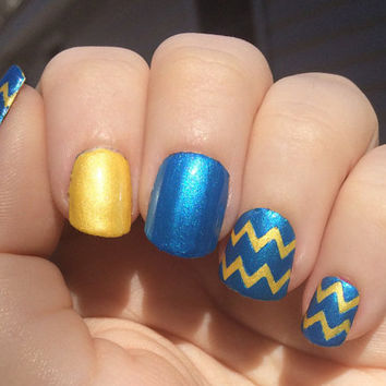 Blue and Yellow 5ml Nail Polish Set, Blue Nail Polish, Yellow Nail Polish, Nail Polish Set, Nail Art
