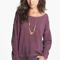 Rubbish® Wide Neck Sweatshirt (Juniors) | Nordstrom
