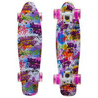 Led Graphic Penny Style Cruiser Board 22 inch Kitty Plastic Fish Skateboard