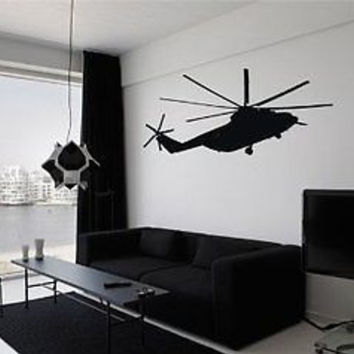 Helicopter Coast Guard Air Force Navy Wall Art Sticker Decal Z-14