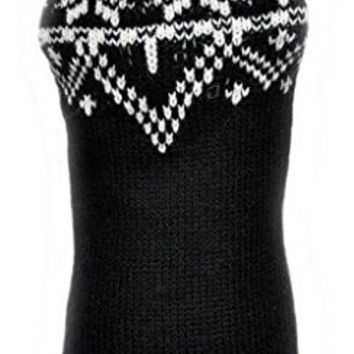 Bobbie Phuyu Alpaca Wool Sweater for Dogs (Black/White) (Large)