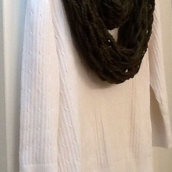 Warm and cozy knit scarf, pick your color