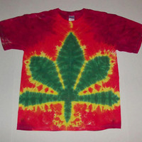 Tie Dye Pot Leaf Shirt - Choose any Size, Style Shirt and Any Colors!