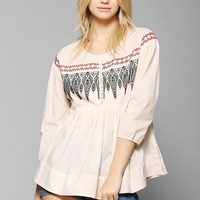 Hazel X UO Embroidered Tunic - Urban Outfitters