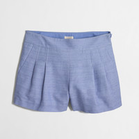 Factory pleated short : 3"