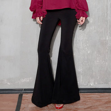 bell bottoms in black,high waist,womens pants,flare pants,bell bottom pants,hippie,vintage style,high fashion,minimalist,for autumn.--E0430