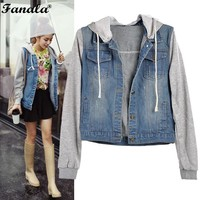 Womens Denim Hooded jacket