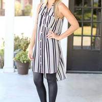 Illusions Tunic - Black and Ivory