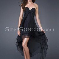 Easter Day Promotion: $200 or more, save $10,Fashion A-line Strapless Neckline Asymmetrical Chiffon Prom Dress -SinoSpecial.com