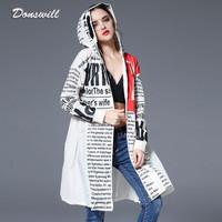 New Arrival Autumn Trench Coat Fashion Winter Coat Women Plus Size Autumn Coat Print Coat Women Windproof Long Trench DW141