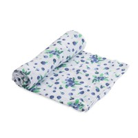 LITTLE UNICORN COTTON MUSLIN SWADDLE IN BLUEBERRY