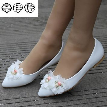 size 34-43 women shoes flats white lace flat heel casual shoes for women white lace ballets flats casual flat heel wedding shoes