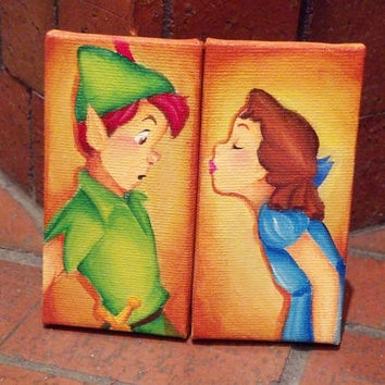 custom disney canvas: set of two -made to order-