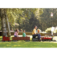 The Amusement Park Ride-On Railroad - Hammacher Schlemmer
