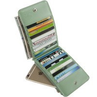 Indressme Womens Bifold Multi Card Case Thin Wallet with Zipper Pocket