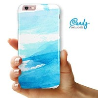 """Abstract Blue Strokes iPhone 6 & iPhone 6s (4.7"""" iPhone) Ultra Gloss Candy Shell Case"""