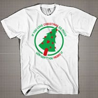 Marry Christmas Final  Mens and Women T-Shirt Available Color Black And White
