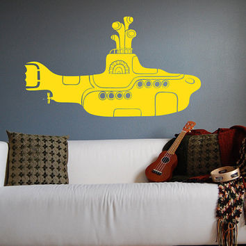 The Beatles Yellow Submarine Wall Decal Vinyl Art Sticker 30""