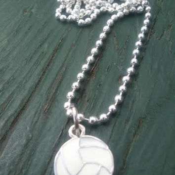 Volleyball Necklace,Spirit Wear,Got Net,Bump Set Spike,Got Net,Sports Team Jewelry,Sport Necklace,TeamUSA Team,Ready to Ship,Direct Checkout