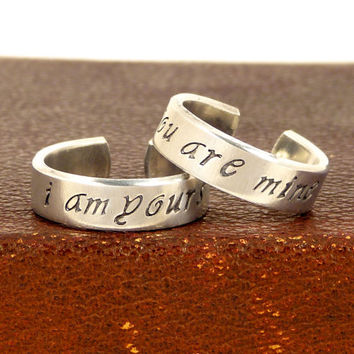I am Yours and You are Mine - Game of Thrones - Couples Ring Set