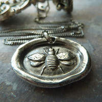 Just Bee Wax Seal Necklace